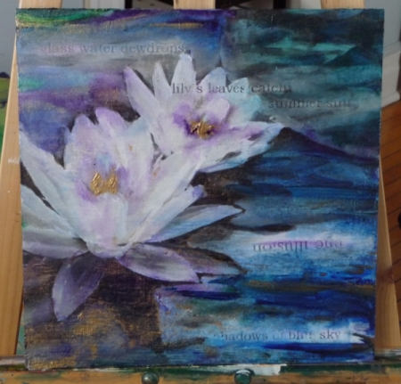 waterlilies with haiku